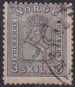 Norway #13 F-VF Used CV $160.00 (Z1231)