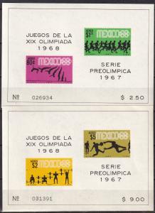 Mexico #C329a, C331a  MNH CV $13.00 (A19742L)