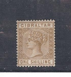 Gibraltar, 20, Queen Victoria Single, **Hinged**