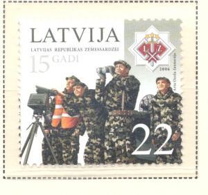 Latvia Sc 657 2006 Self Defence Forces stamp  mint NH