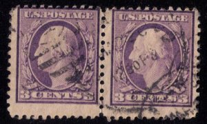 US Sc 501 3c Used TYPE I  Vert, Pair Fine