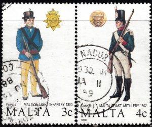 Malta #723-726 Used