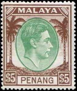 Malaya - Penang SC# 22 SG# 22 George VI  $5.00 MH