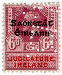 (I.B) George V Revenue : Judicature Ireland 6d (Irish Free State OP)