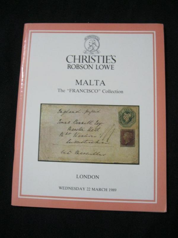 CHRISTIES LOWE AUCTION CATALOGUE 1989 MALTA 'FRANCISCO' COLLECTION