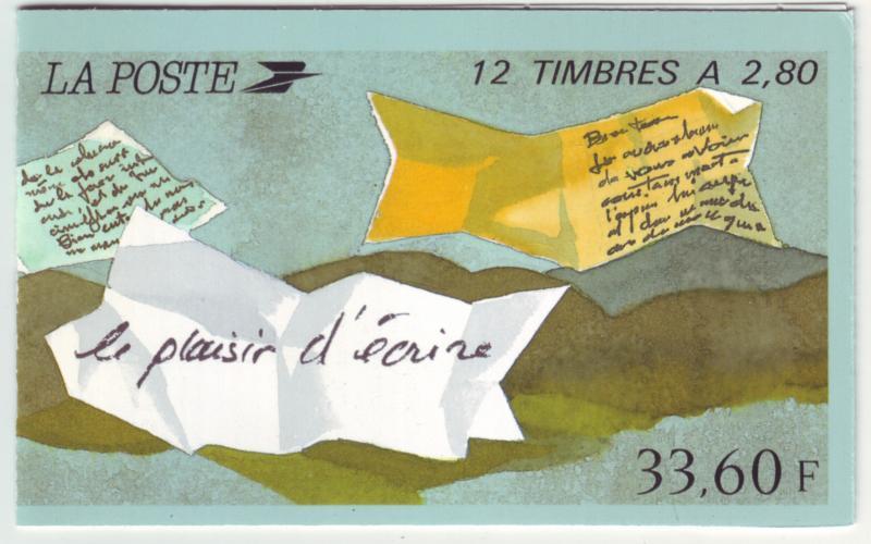 Z463 jlstamps 1993 france set bklt mnh #2394bc greetings perf 12 1/2