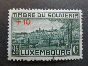 A4P27F120 Letzebuerg Luxembourg Semi-Postal Stamp 1921 25c + 10c used