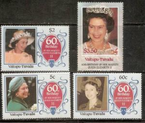 Tuvalu - Vaitupu 1986 Queen Elizabeth II 60th Birth Day MNH # 3007