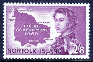 Norfolk Island - Scott #42 - MLH - SCV $16.00
