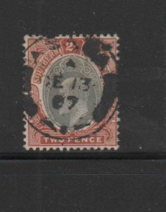 SOUTHERN NIGERIA #23  1906  2p  KING EDWARD VII       F-VF USED