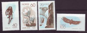 J18402 JLs stamps 1970 norway set mnh #551-4 nature