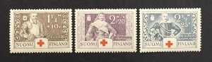 Finland 1934 #b15-7, Red Cross, MNH.