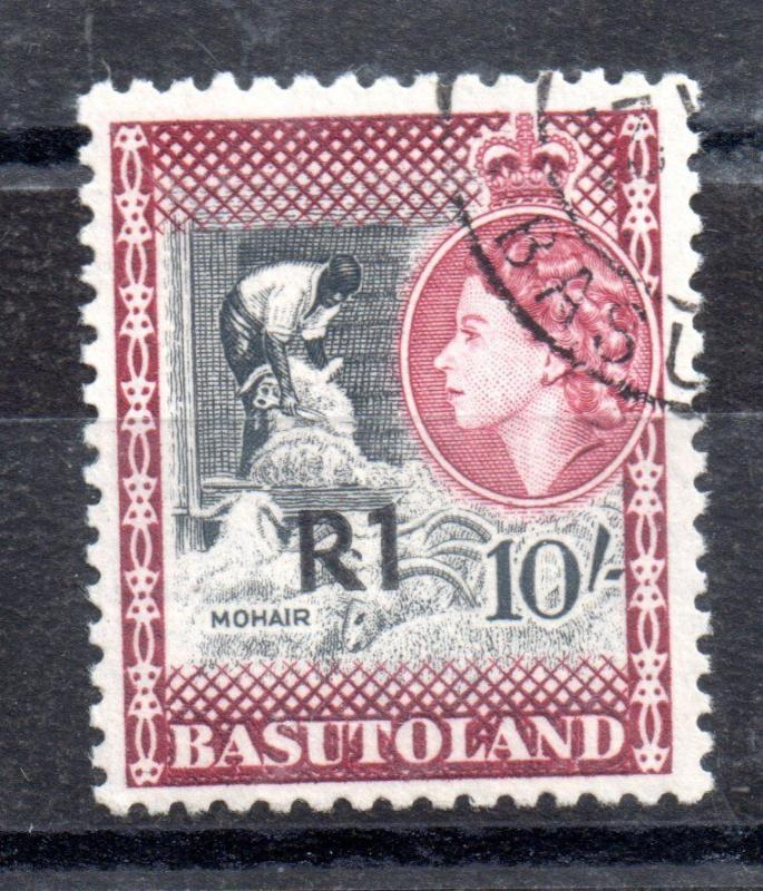 Basutoland QEII 1961 R1 on 10/- SG68b very fine used WS7376