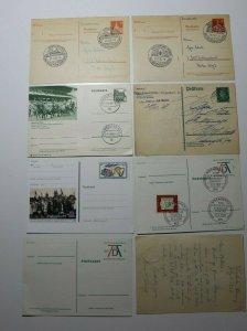 German Germany Postal Card stationery postcard fdc Event Lot used