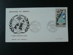 meteorology world day 1968 FDC Senegal 74420