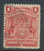 British South Africa Company / Rhodesia SG 78 SC# 60a  Used Red   see details