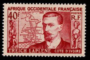 French West Africa Scott 58 MH* FOA Map stamp