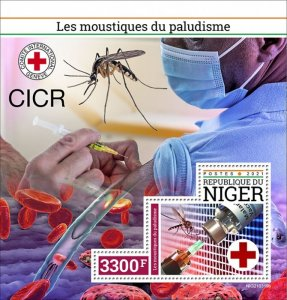 NIGER - 2021 - Malaria Mosquitoes - Perf Souv Sheet -Mint Never Hinged
