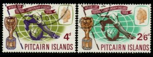 PITCAIRN ISLANDS SG57/8 1966 WORLD CUP FOOTBALL FINE USED
