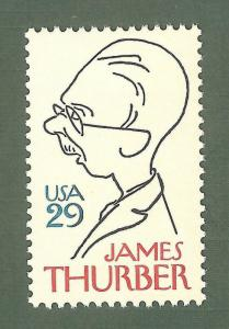 2862 James Thurber US Single Mint/nh (Free Shipping)