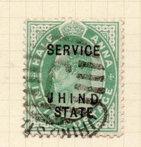 India Jhind 1903-06 Early Issue Fine Used 1/2a. Optd 272848
