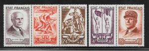France  Scott #B153-B157 Mint NH  Scott CV $75.00