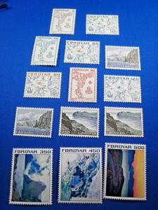 FAROE ISLANDS - SCOTT # 7-20  MNH   (gg)