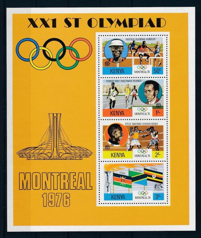 [56310] Kenya 1976 Olympic games Montreal Athletics Boxing Flags MNH Sheet