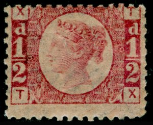 SG48, ½d rose-red plate 8, LH MINT. Cat £600. TX
