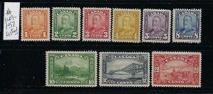 CANADA SCOTT #149-157 1928 -29 GEORGE V SHORT SET-  MINT HINGED