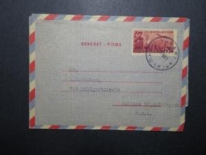 Yugoslavia 1949 Aerogramme to USA - Z12076