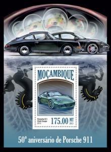 MOZAMBIQUE 2013 SHEET PORSCHE 911 CARS