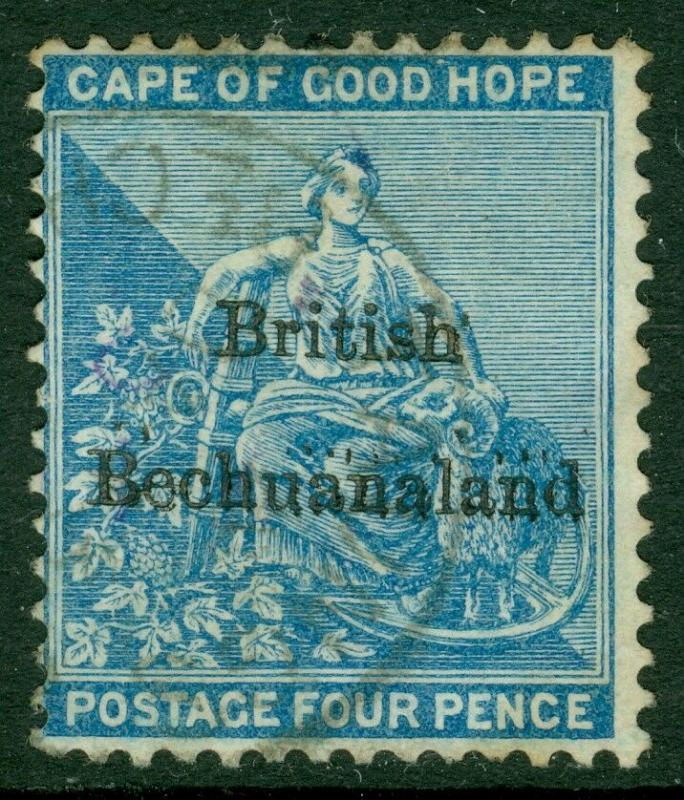 EDW1949SELL : BECHUANALAND 1886 Sc #1 VF Used Choice stamp, Dated cancel Cat $85