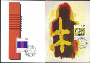 Liechtenstein 1993 Europa CEPT Art 2 Maxi Cards FDC