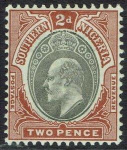 SOUTHERN NIGERIA 1903 KEVII 2D WMK CROWN CA