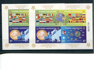 Bosnia   2005  Europa mini sheet perf. and Imperf.  Mint VF NH