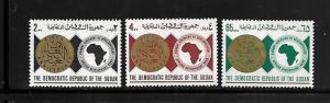 SUDAN, 222-224, MINT HINGED, AFRICAN DEVELOPMENT BANK