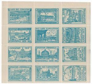 (I.B) Belgium Cinderella : International Exhibition (Gent 1913)