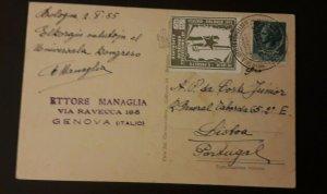1955 Bologna Italy World Congress Of Esperanto Illustrated Cover