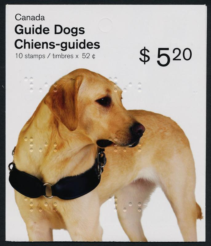 Canada 2266a Booklet MNH Guide Dog (features Braille)