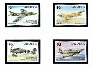 Barbados 842-45 MNH 1993 Royal Air Force 75th Anniv