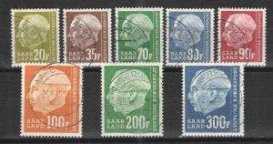 Germany - Saar 1957 lot Unused/CTO VG/F - President Heuss CTO issues lot