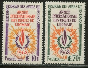 AFARS & ISSAS Sc#322-323 1968 Human Rights Year Complete OG Mint NH