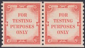 #TD110 VF OG NH TEST STAMP PAIR -- RARE -- CV $2,000.00 WL5080