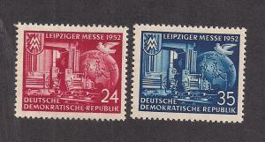 GERMANY - DDR SC# 108-9 F-VF OG 1952