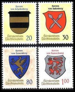 Liechtenstein Arms 2nd issue 4v SG#443-446