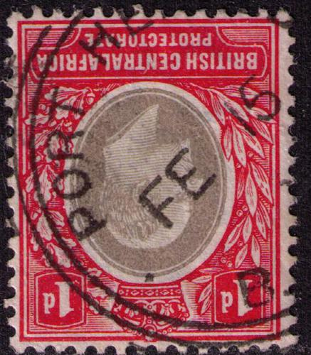 British Central Africa # 60  Used VF  Port Herald Cat $ 2.25