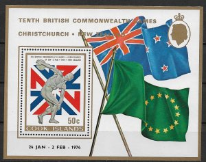 1977 Cook Islands 377 10th British Commonwealth Games MNH S/S