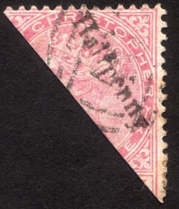1884, St. Christopher, 1/2p, Used, Sc 17b