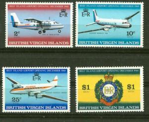 Virgin Islands # 194-97 Beef Island Airport (4)  Mint NH